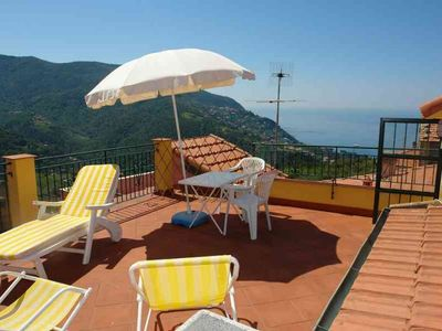 Photo for Terrace with sea view Quiet area private parking close to the beach 010037-LT-0318