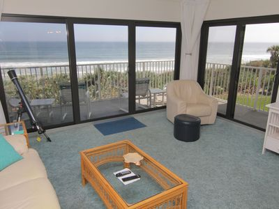 Photo for Sea My View, Direct Oceanfront, 2/2 Sleeps 6, No-Drive Beach, Family & Budget Friendly!
