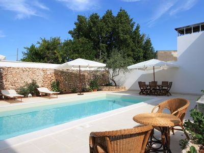 Photo for Vacation home luxury faber courtyard in Racale - 2 persons, 1 bedrooms