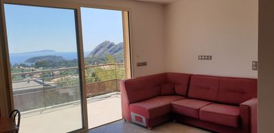Photo for 150m2 apartment with terrace and panoramic sea view