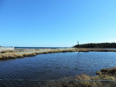 Photo for View Of Fresh Water Pond And Atlantic Ocean, Seawall Entrance To Acadia