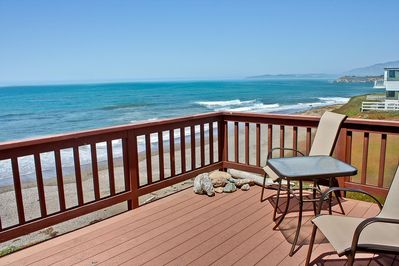 Deck with fabulous view! - If you want oceanfront, this is the home for you! Enjoy the sunsets and the fresh sea air. The beach is your backyard!