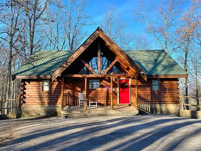 Photo for Pet Friendly 2 BD/2 Bath log cabin located 5 miles from Down Town Gatlinburg
