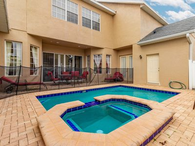 Photo for Stylish home with game room, private pool and spill-over spa.