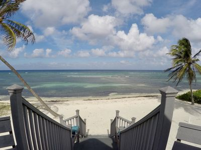 Photo for Cozy Cayman Beach Front Cottage - Emerald Sea House