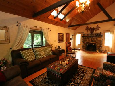 Photo for Gorgeous Dunetop Wooded Cabin, Harbor Country, Lake Michigan, Walk to Beach!