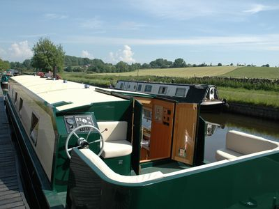 Photo for CANAL BARGE, pet friendly, with open fire in Barnoldswick, Ref 984986
