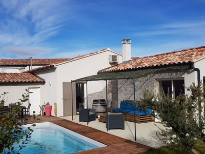 Photo for Modern holiday home with private swimming pool, air conditioning and enclosed garden