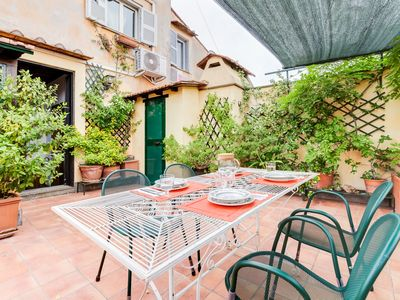 Photo for Exquisite 2 bed w/Terrace in Trastevere