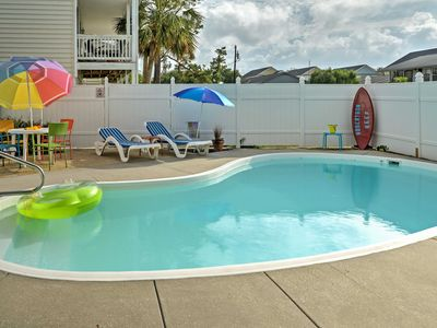 Photo for Surfside Beach Home w/Private Pool-Steps to Beach