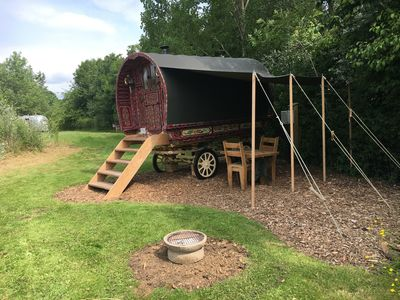 Photo for Authentic Gypsy Caravan with double bed