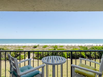 Photo for Great view straight out to the beach from this 2nd floor oceanfront condo