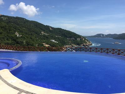 Upper Infinity Pool facing Marquez Bay