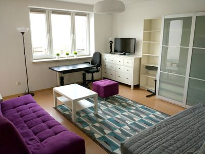 Main room with 2 beds for 3 people