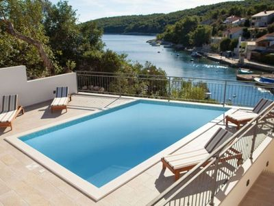 Photo for Stone house with pool in Korcula bay