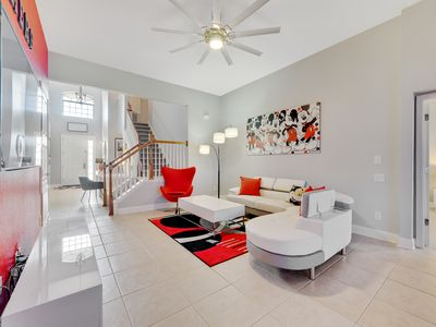 Photo for Villa The Dreamers , brand new ultra modern villa , 3 miles from Disney , pool