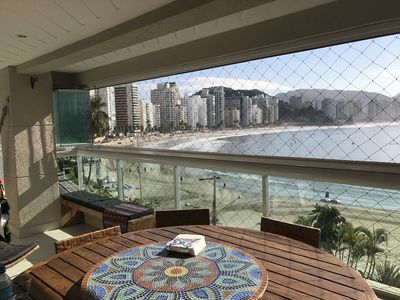 Photo for Beautiful fit on the water 4 suites, balcony w / barbecue. Guaruja