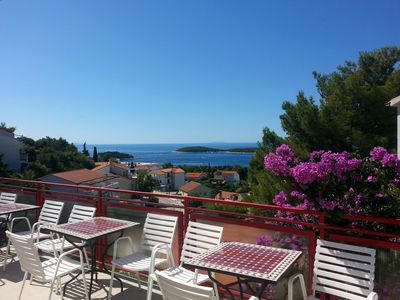 Photo for Apartments for 10 with nice seaview- Hvar Town