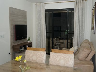 Photo for Front building w / a beach in Guarapari: All furnished / Inter. wifi + cable TV