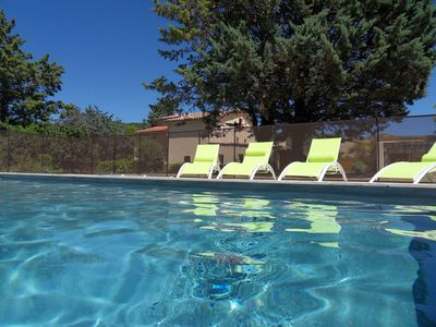 Photo for Southern Ardèche cottage with swimming pool near Vallon Pont D arc