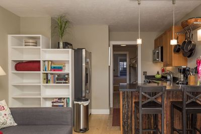 Newly renovated open layout kitchen / dining / living room