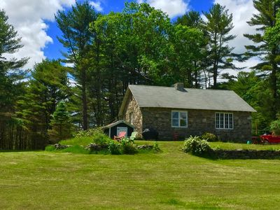 Photo for Cozy Stone Cottage Home in the Catskills (Narrowsburg, NY) on 30 private acres