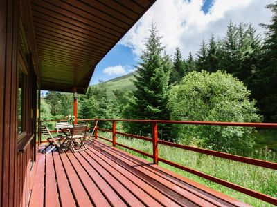 Photo for Beautiful 4 star, 2 bedroom chalet with mountain views. A true Highland landscape all around