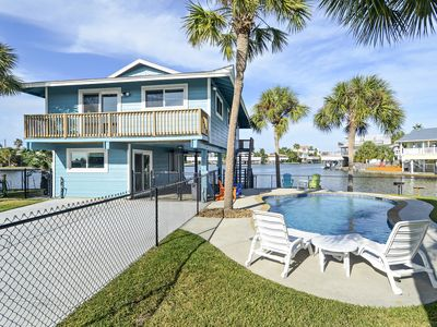 Photo for Reel Paradise accommodates 8 people, on the canal w/pool in Jamaica Beach!