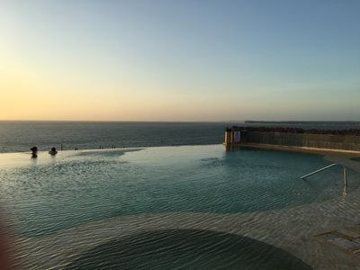 Beautiful sunsets from rooftop infinity pool