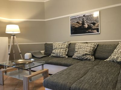 Photo for Modern holiday apartment approx. 65 m² with underfloor heating, terrace and barbecue, WLAN