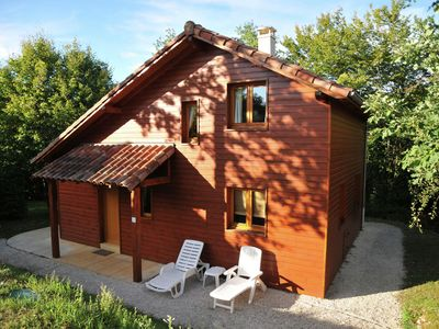 Photo for Cozy chalet in the woods of the beautiful Dordogne