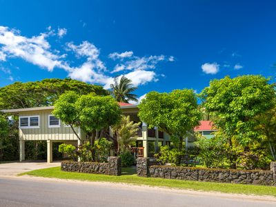 Photo for Beautiful Home Steps To Hanalei Bay and Town! TVNC-1131