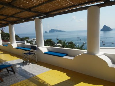Photo for Enchanting Typical Aeolian Villa With Unique Sea View in a quiet area of Panarea