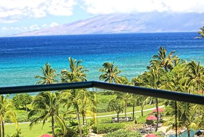 Perfect View of Molokai Island from Honua Kai Resort unit Hokulani 648