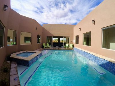 Private Courtyard Pool Surrounded by the Home.