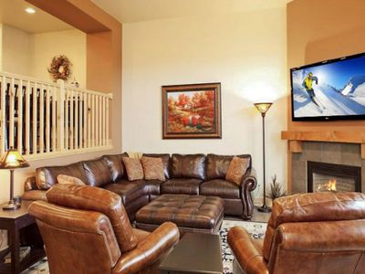 Photo for Two story, posh townhome w/ private hot tub, views, & shared pool access!