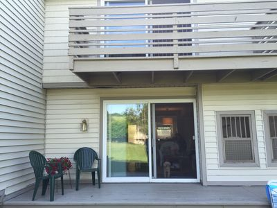 Deck and master bedroom balcony