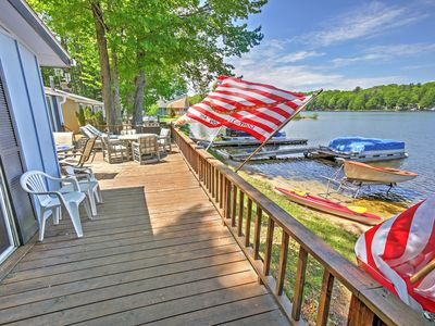 Photo for Rustic 2BR LeRoy Cottage w/Huge Private Deck