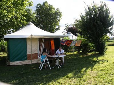 Photo for Camping La Sole *** - Bungalow Toilé 3 Rooms 4 People