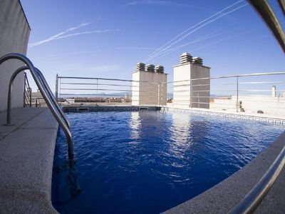 Photo for Two-Bedroom Apartment with Rooftop Pool