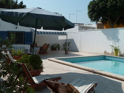 Photo for Private heated pool, full A/C, free Wifi,  near beaches, no extra charges!