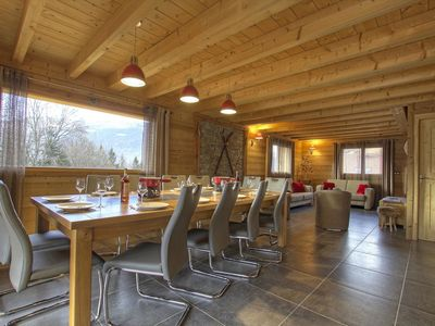 Photo for New chalet, classified 4 *, spacious for 12 people, beautiful mountain view