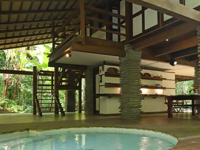 Photo for Zen house in the Atlantic Forest, Promirim beach, pool, 3 suites, deck, gourmet
