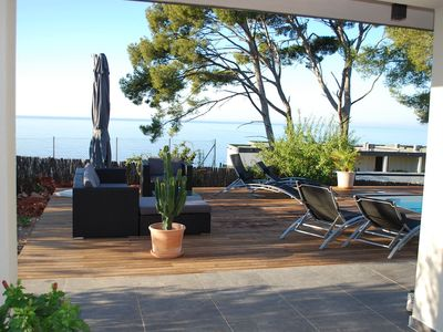 Photo for RDJ IN CONTEMPORARY VILLA - FACING THE SEA - GREAT VIEW