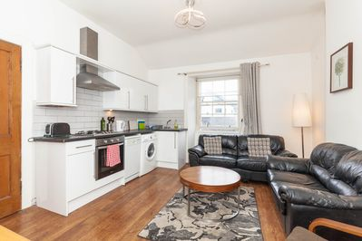 Livingroom kitchen open plan. Kitchen has all Equipment you will need