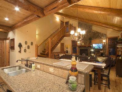 Photo for Luxurious Cabin: Two Master Suites, On Shuttle Route, Hot Tub, Mtn. Views!!