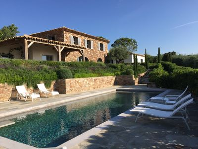 Photo for charming villa on the French Riviera, with sea view 180 °, heated pool