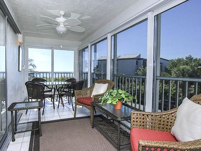 Photo for Sanibel Surfside 222  Impressive view of the Gulf of Mexico, small charming complex with lush grounds.