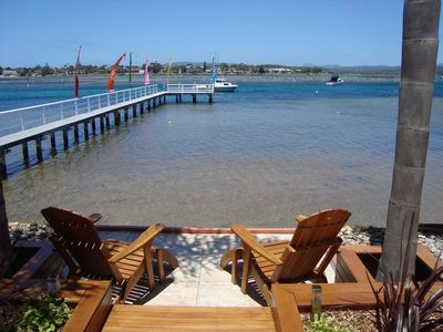 "Photo for ""Waterfront"" on Merimbula Lake 2 Bedroom Apartment."