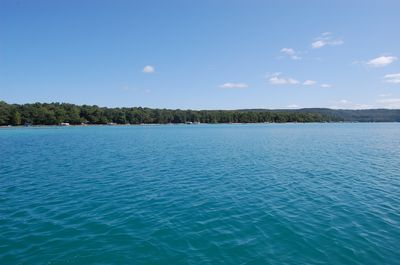 The deep, aqua blue water is just gorgeous.